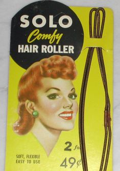 1940s Vintage Hair Rollers for 40s Pin-up Hairstyles