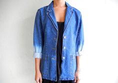 Ombre Sleeved Denim Blazer. $85.00, via Etsy.