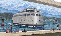 Kalakala mural (R.M. Calamar @ Wikimedia) by kitchener.lord, via Flickr