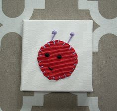 Bug Head #1 Fabric Wall Art by CottonwoodCove on Etsy