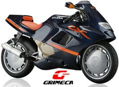 Gilera CX 125, m.y. 1990 : Italian masterpiece equipped with Grimeca wheels