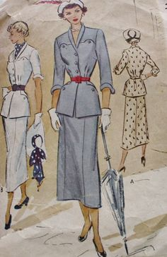 1940s Womens Two Piece Suit McCall 7683 by BluetreeSewingStudio, $19.00