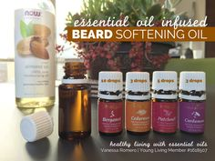 Is your man growing his winter coat? Check out this recipe for essential oil infused beard softening oil. It's smells amazing! Is your man growing his winter coat? Check out this recipe for essential oil infused beard softening oil. It's smells amazing! Yl Oils, Yl Essential Oils, Therapeutic Grade Essential Oils, Young Living Essential Oils, Be Natural, Natural Oils, Diy Beard Oil, Oils For Men