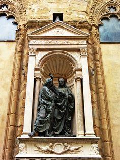 Firenze , Chiesa di Orsanmichele Andrea del Verrocchio- Incredulità di San Tommaso