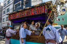 "Asakusa Sanja Matsuri parade 1/17 This is the big event of the first day of the Sanja Matsuri starting from Kannon Ura (i.e. behind Sensoji Temple) and ending at Asakusa Jinja. In its head there is a ""hayashi ren"" i.e. music crew. #Asakusa, #Sanja, #Matsuri, #parade Taken on May 16, 2014. © Grigoris A. Miliaresis"