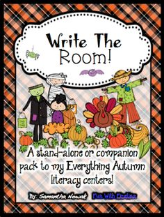 5 FREE fall Write the Room activities!