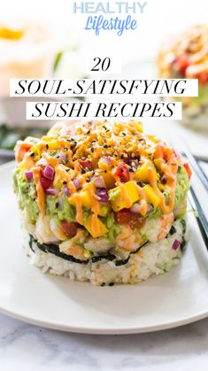 20 soul-satisfying sushi recipes <br> If you want to make sushi at home, it is inexpensive and actually not difficult. Have a sushi making dinner party and impress and entertain your friends. Sushi Stacks Recipe, Sushi Roll Recipes, Avocado Recipes, Cooked Sushi Recipes, Fish Recipes, Sushi Sandwich, Sushi Burger, Dessert Chef, Sushi Ingredients