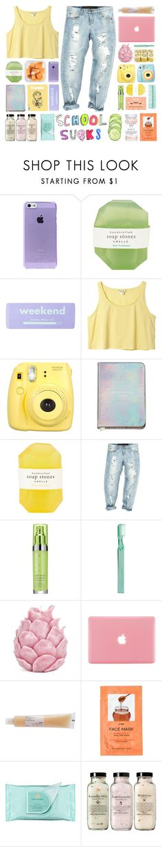 """""""Untitled #450"""" by galactictraveler ❤ liked on Polyvore featuring Polaroid, Pelle, claire's, Monki, Fujifilm, OneTeaspoon, Rodial, Supersmile, Zara Home and Davines"""