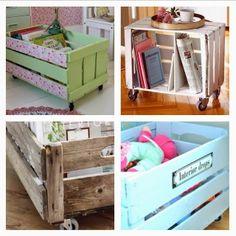 Tuki&Apple Home: DIY: Cajas de madera (las de fruta de toda la vida...