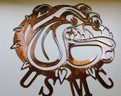 USMC Bulldog Symbol Metal Wall Art Decor