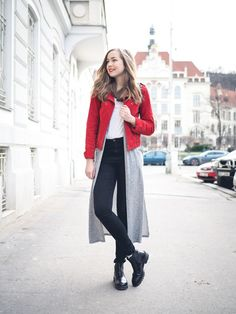 A Cup Of Style: what i wore Winter Fashion Casual, Autumn Winter Fashion, Red Fashion, Girl Fashion, What I Wore, Duster Coat, Street Style, Style Inspiration, Feelings