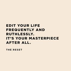 Your Masterpiece - The Reset