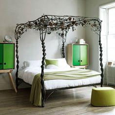 Weinlese-botanische Schlafzimmer Wohnideen Living Ideas