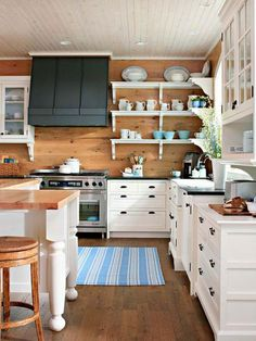 Love the wood and white