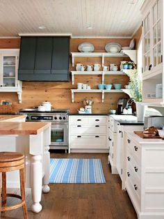 Wood + white + blue