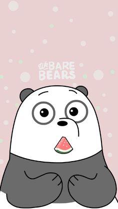 we bare bear♡ Cute Panda Wallpaper, Bear Wallpaper, Emoji Wallpaper, Cute Disney Wallpaper, Cute Wallpaper Backgrounds, We Bare Bears Wallpapers, Panda Wallpapers, Cute Cartoon Wallpapers, Kaws Iphone Wallpaper