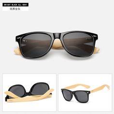 235fc51489a Bamboo Sunglasses for Men Women Popular Classic Travel Glasses Wooden Leg   fashion  clothing