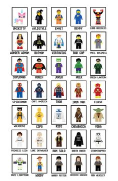 Lego Art Digital Download (SINGLE) - Lego Movie Wall Art - Star Wars - Harry Potter - Super Heroes - Toy Story - Lego Movie - Batman
