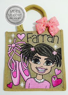 Hand painted personalised bags and art by  MICHELLE MEADOWS - MIXED MEDIA ARTIST.