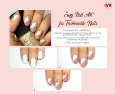 Easy Nail Art idea for the fashionable you. #thewomenwear