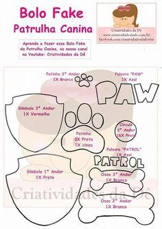 tortas Bolo Do Paw Patrol, Sky Paw Patrol, Paw Patrol Cupcakes, Cumple Paw Patrol, Paw Patrol Birthday Cake, Paw Patrol Party, Skye Paw Patrol Cake, Escudo Paw Patrol, Diy Bottle