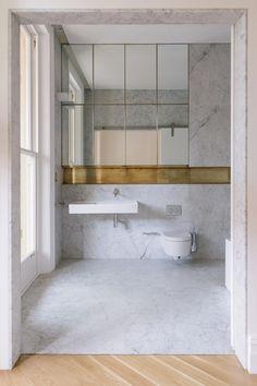 Italianate House - Picture gallery 41 Modern Bathroom Tile, Contemporary Bathroom Designs, Bathroom Layout, Bathroom Interior Design, Minimal Bathroom, Marble Bathrooms, Modern Contemporary, Rustic Modern, Tile Layout