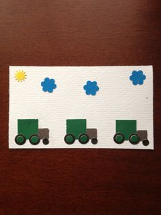 Tarjeta infantil camiones