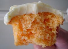 The cupcakes themselves are so light and buttery, with just a hint of orange. The frosting is creamy and sweet and tangy, and gets a delicious orange flavor from fresh orange juice.