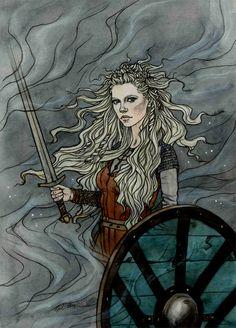 The shield maiden. by liga-marta.deviantart.com on @DeviantArt
