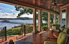 New Bern, NC River Home - traditional - porch - raleigh - by Tab Premium Built Homes