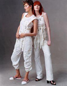 Stella Tennant & Karen Elson by Steven Meisel for US Vogue