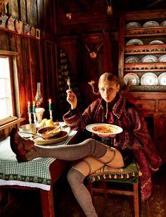 "Anna Selezneva in ""Joy of Pippi Longstocking"" by Giampaolo Sgura for Vogue Japan September 2015"