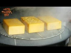 Smoke any cheese you want at home using this method. Here I smoked swiss, cheddar and pepperjack. Pepperjack by far was the best! I Grill, Grilling, Charcoal Grill Smoker, Smoked Mac And Cheese, Food Videos, Recipe Videos, Variety Of Fruits, Swiss Cheese