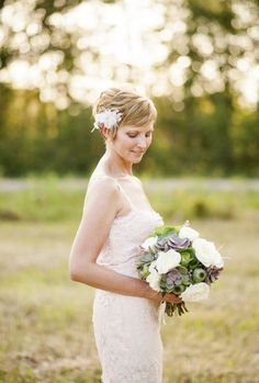 60 Hot Short Wedding Hairstyles | HappyWedd.com