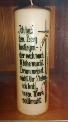 Trauerkerze Candles, Mugs, Baguette, Tableware, Decorating Candles, All Saints Day, Communion, Dinnerware, Cups