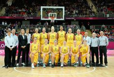 Team Australia poses for a photo before taking on Great Britain during Women's Basketball on Day 1 of the London 2012 Olympic Games at the Basketball Arena on July 28, 2012 in London, England.