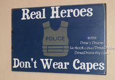 Law Enforcement Wall Decor by DeenasDesign, - https://www.facebook.com/DeenasDesign - $44.00