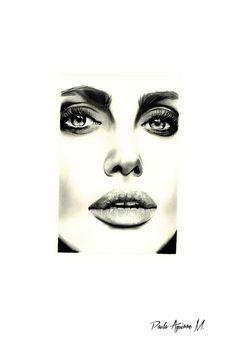 """""""Jolie"""" dibujo hecho con grafito"""
