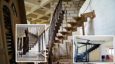 atelier mana curenta de lemn curbat  scara interioara din lemn pe vanguri, cu trepte de lemn pe corzi pret