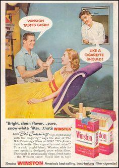 Winston cigarettes ads