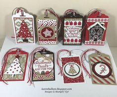 Karen's Stampin' Habit!: Christmas Tags for a Swap