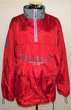 Tommy Hilfiger Athletics Vintage Men's 1/2 Zip Windbreaker Jacket 3M Size XXL #TommyHilfiger #Windbreaker