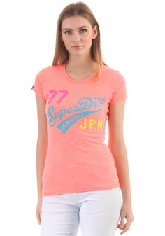268d9b729f46  planetsports SUPERDRY - Womens New Angels Neon Lights Entry S S T-Shirt