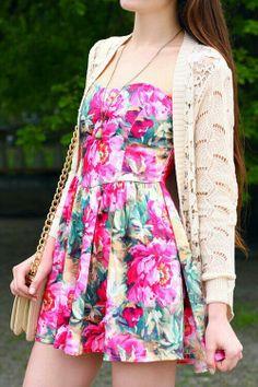 Floral dress#love it