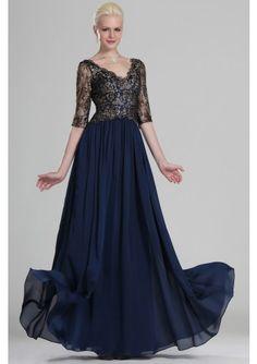 A Line V Neck Court Train Chiffon Blue Mother Of The Bride Dress With  Draped Special. Special Occasion DressesBlue Bridesmaid DressesWedding ... 189485354497