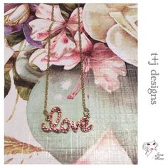 """1/2 OFF •  USE •  MAKE •  OFFER •  t+j designs pink crystal """"love"""" necklace  Base Metals, Glass Crystals  Nickel Free - Lead Free  Made In China  Ask Questions Before Purchase  Five Star Rating  Ships Next Business Day Except Holidays & Weekends  Bundle for Discount  Thank You For Shopping My Closet T&J Designs Jewelry Necklaces"""