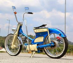 To know more about Honda LowRider Cub Man Apek Garage, visit Sumally, a social network that gathers together all the wanted things in the world! Featuring over other Honda items too! Motos Vespa, Motos Honda, Honda Bikes, Honda Cub, Scooter Custom, Custom Bikes, Lowrider, Scooters, Bobber Motorcycle