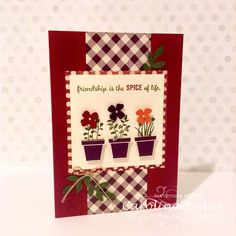 Crazy Crafters Blog Hop July - Favourite Colour Combo - Gift From the Garden Stamp set using NEW Stampin Up products from 2015-2016 Annual Catalogue Carolina Evans #stampinup
