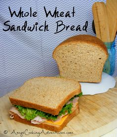 Whole Wheat Sandwich Bread. This makes two loaves. Its is yummy and easily sliced. I freeze one loaf while I use the other. So much better than buying sliced bread.