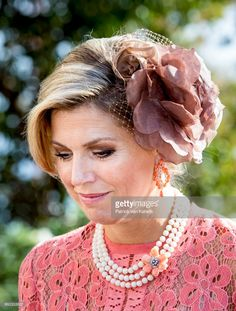 Queen Maxima of The Netherlands visits the Museo Nacional Arte Antiga and the exhibition Rembrandt, Rijksmuseum and Royal Collectionson October 11, 2017 in Lisboa CDP, Portugal. (Photo by Patrick van Katwijk/Getty Images)